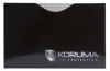 Horizontal card protector (black with silver logo)