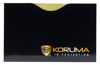 Horizontal card protector (black with gold logo)