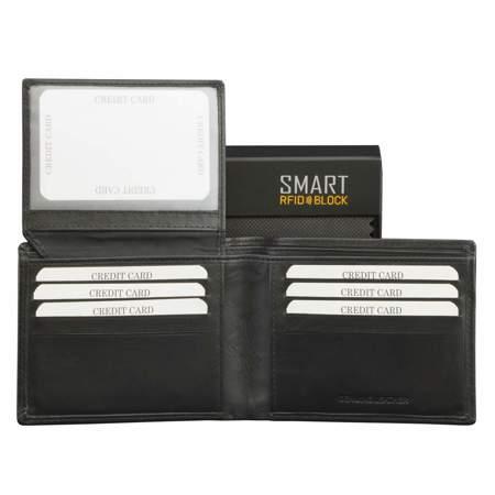 af1e635d6d7 SMART RFID BLOCK Slim Credit Card Wallet (Black)