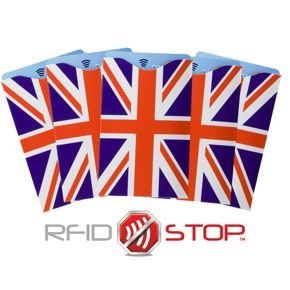 RFID Blocking contactless card protector (Union Jack) 5 pack