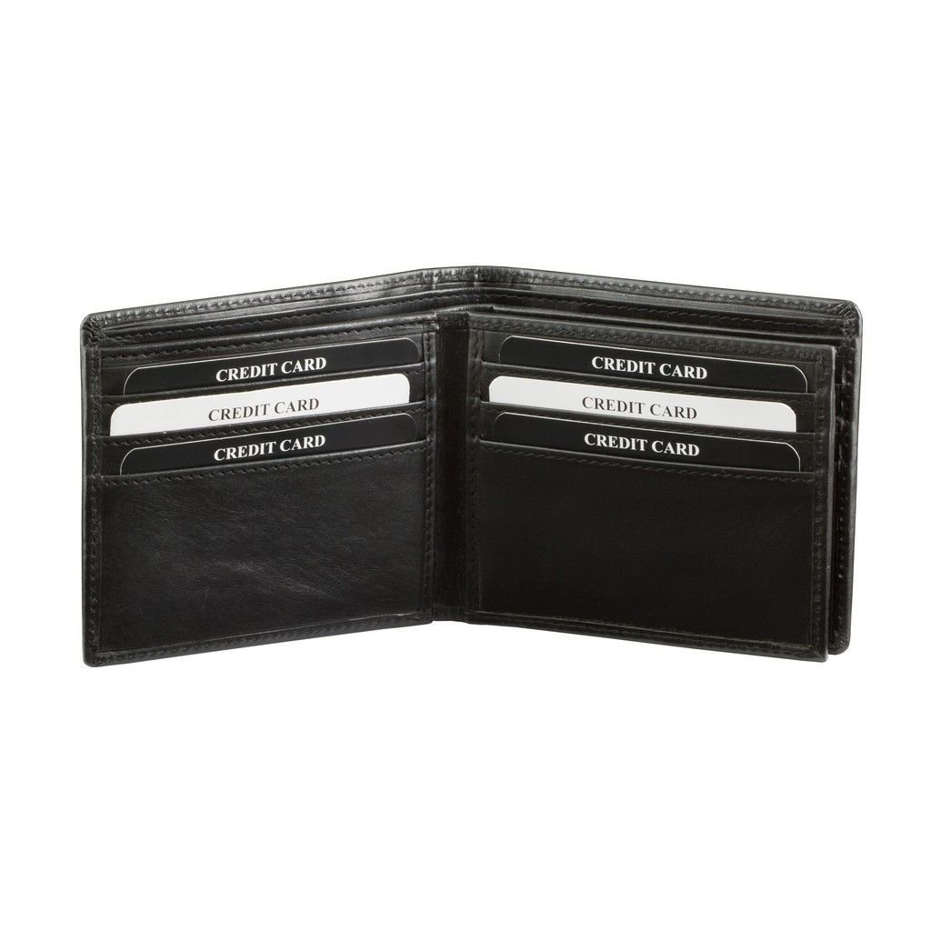 RFID Blocking billfold wallet for 12 credit cards (Black ...