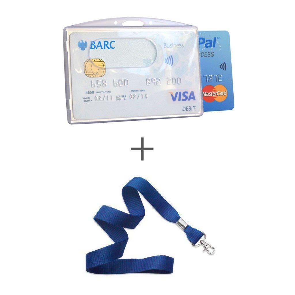 Rfid bocking protection credit card sleeves koruma rfid blocking two cards badge holder buycottarizona