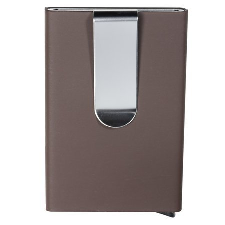Aluminium RFID Blocking Credit Card Holder with Card Ejector (Brown)