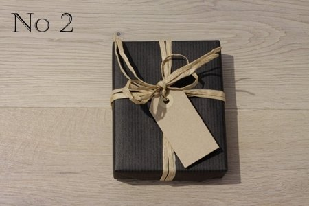 Black Kraft Paper, Natural Raffia and Natural Gift Tag