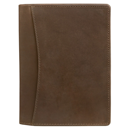 Genuine travel RFID wallet for documents (brown)