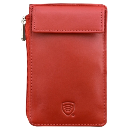 Keyless wallet with keyless entry protection (red)