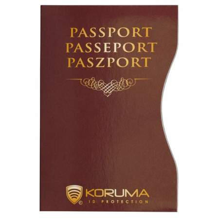 Koruma Biometric Passport Protector (Maroon)