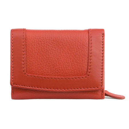 Ladies RFID blocking purse - french style (Red)