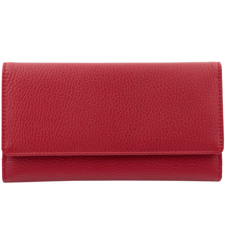 Leather RFID Blocking Ladies Purse for Cards and Mobile (Red)