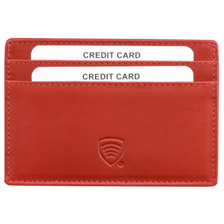 RFID Blocking Exclusive Handmade Genuine Leather Credit Card Holder (Black)
