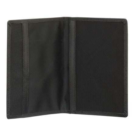 RFID Blocking Genuine Leather Passport Holder (Black)