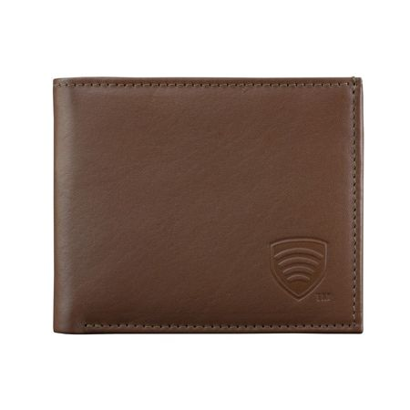 RFID Blocking billfold wallet for 6 credit cards (Brown)