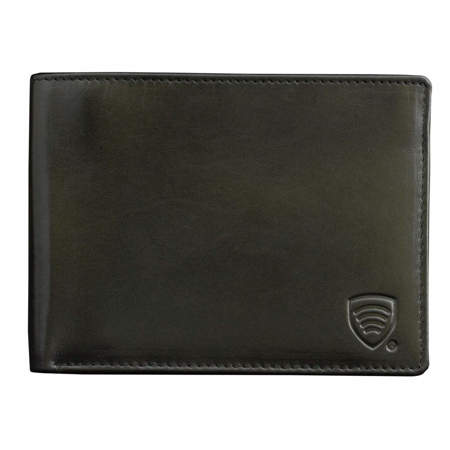 RFID Blocking billfold wallet for 6 credit cards (Shiny Black)