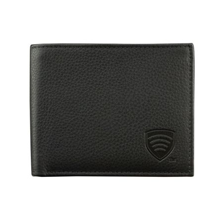 RFID Blocking mens genuine leather shielded billfold wallet
