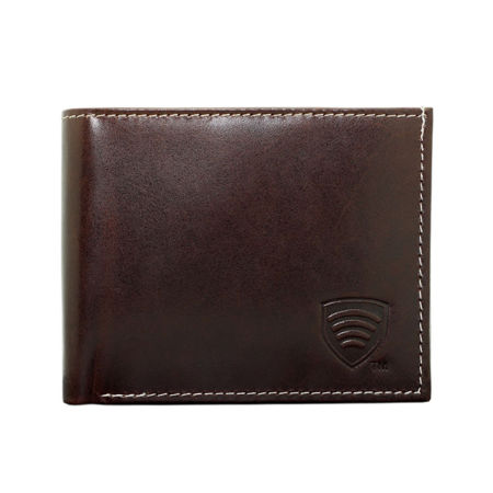 RFID Blocking mens made of Italian Genuine Leather (Brown)