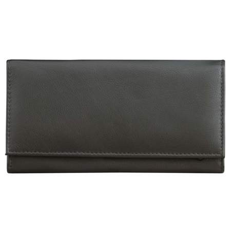 RFID blocking ladies wallet for contactless cards (Black)