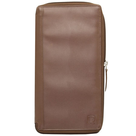 RFID blocking travel organizer (Brown)