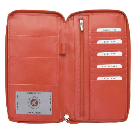 RFID blocking travel organizer (Red)
