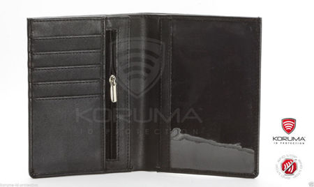 RFID blocking travel wallet (Black)