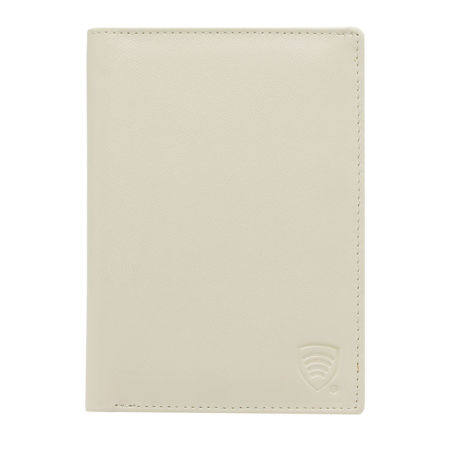 RFID blocking travel wallet (Cream)
