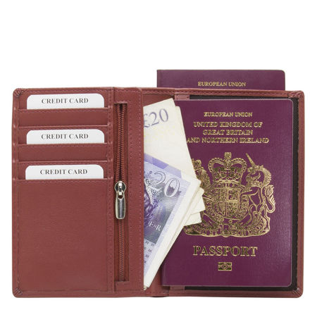 RFID blocking travel wallet (Maroon)