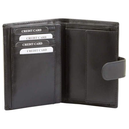 RFID blocking wallet - vertical (shiny black)