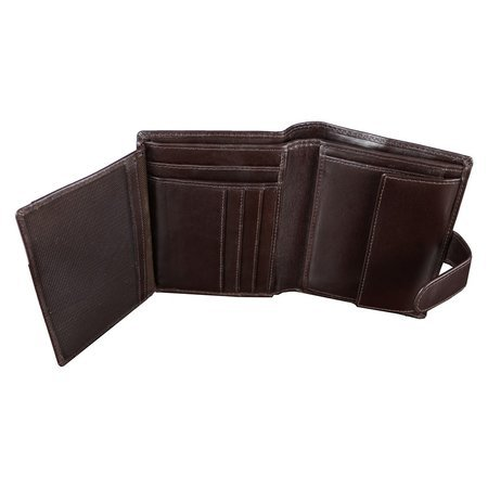 RFID blocking wallet - vertical (shiny brown)