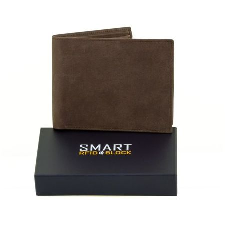 SMART RFID BLOCK Slim Credit Card Wallet (Brown)