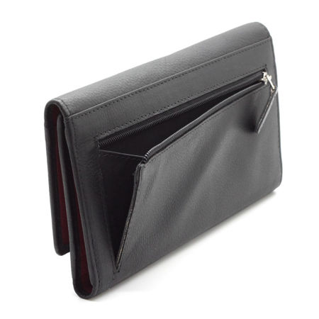 Two colours RFID blocking ladies wallet