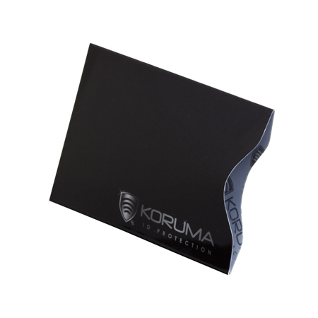 Vertical RFID blocking credit card sleeves (black with silver logo) 10 pack
